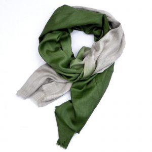 Cashmere Dip Dye Tørklæde - grøn