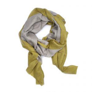 Cashmere Dip Dye Tørklæde - gul