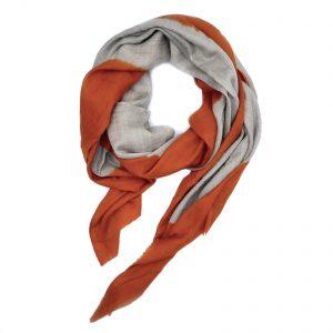 Cashmere Dip Dye Tørklæde - orange