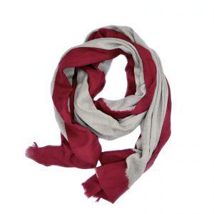 Cashmere Dip Dye Tørklæde - rød