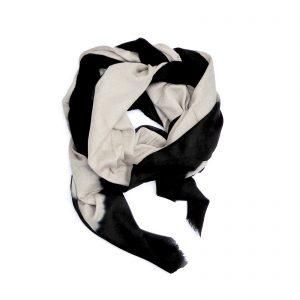 Cashmere Dip Dye Tørklæde - black