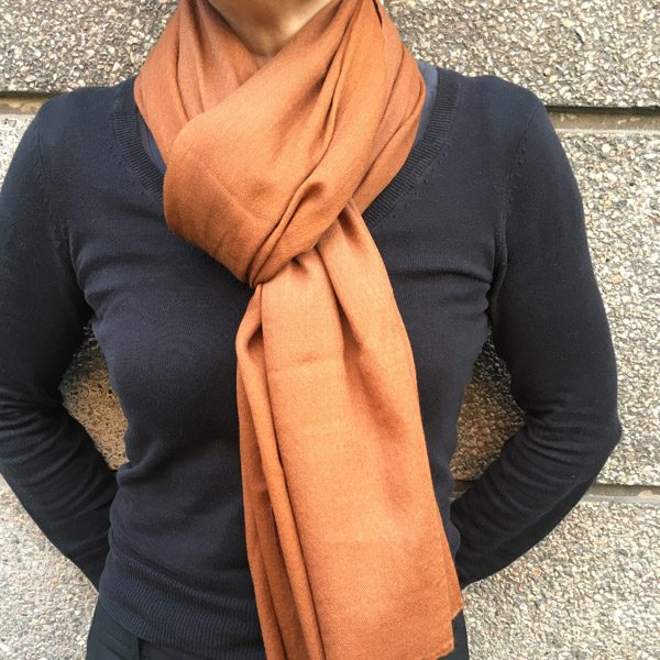Sjal cashmere - choko brun