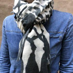 Tørklæde Digital Print - 100% uld