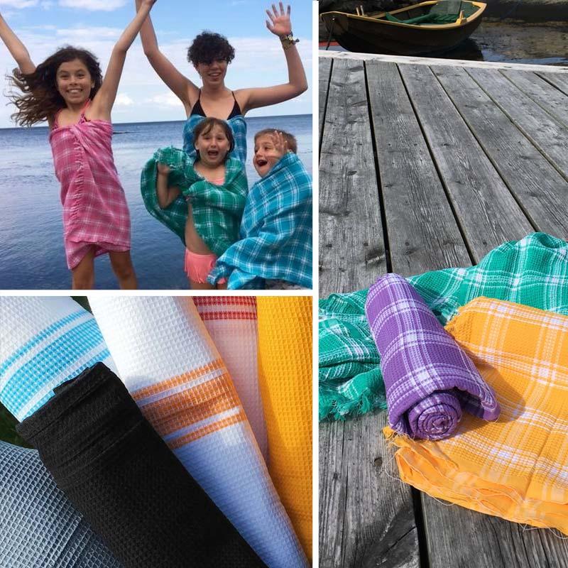 Vaffelvævet håndklæder 100% bomuld