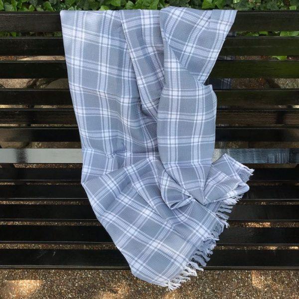 Indisk håndklæde grå