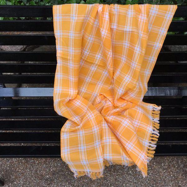 Indisk håndklæde gul