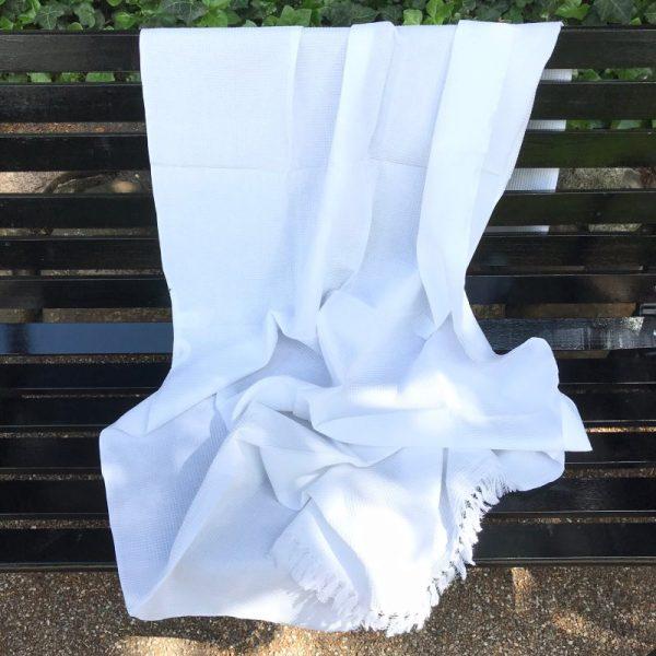 Indisk håndklæde hvid