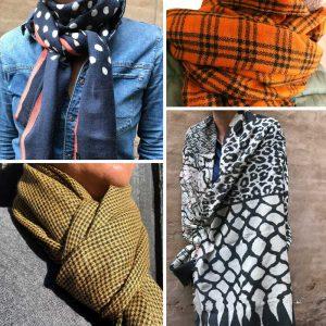Mønstrede Tørklæder
