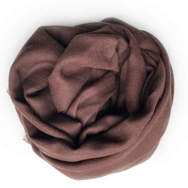 Sjal cashmere - espresso brun