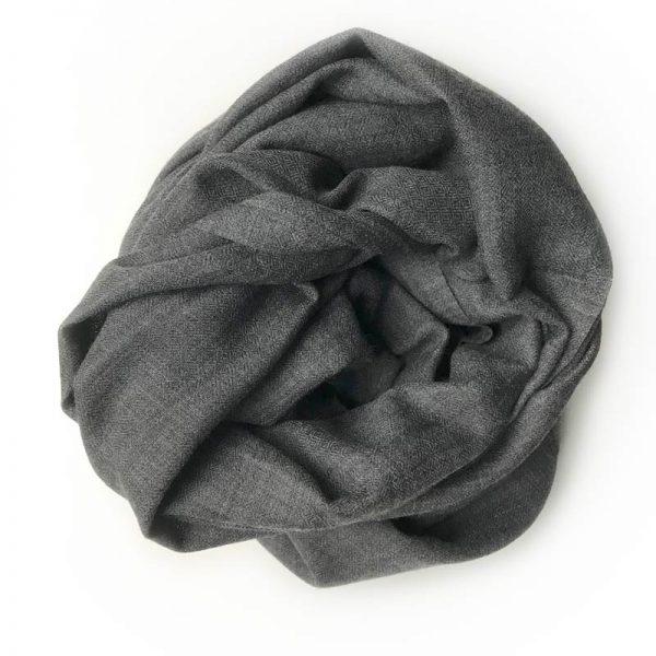 Uld Sjal - mørkegrå