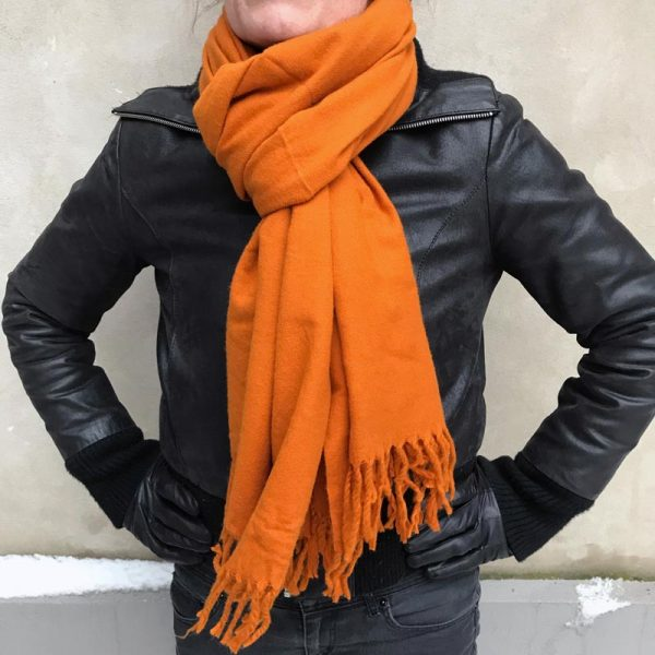 Yak Uld Shawl - orange