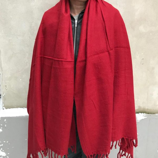 Handloom Tak Shawl - rød