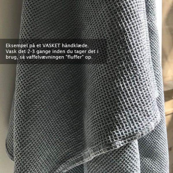 Vaffelvævet håndklæde - Scandinavian Vasket