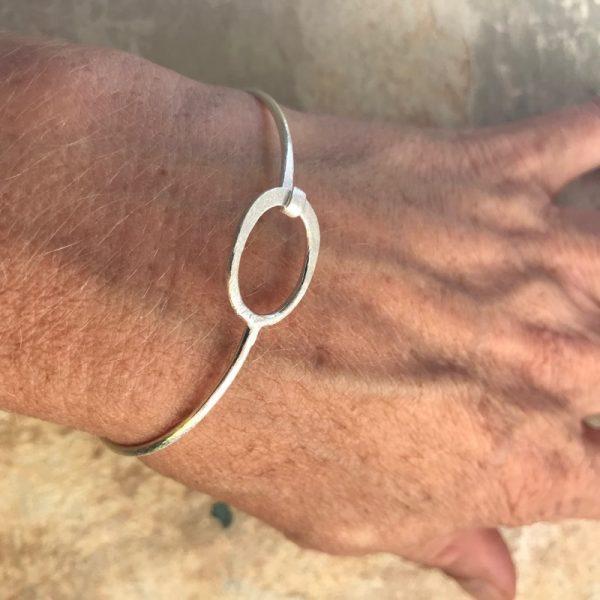 Armbånd Oval - sølv