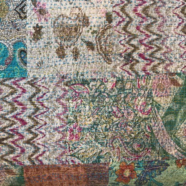 Stonewashed sengetæppe, quiltet