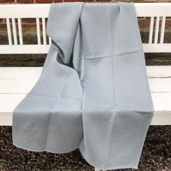 Indisk vaffelvævet håndklæde, 100% GOTS-certificeret øko bomuld