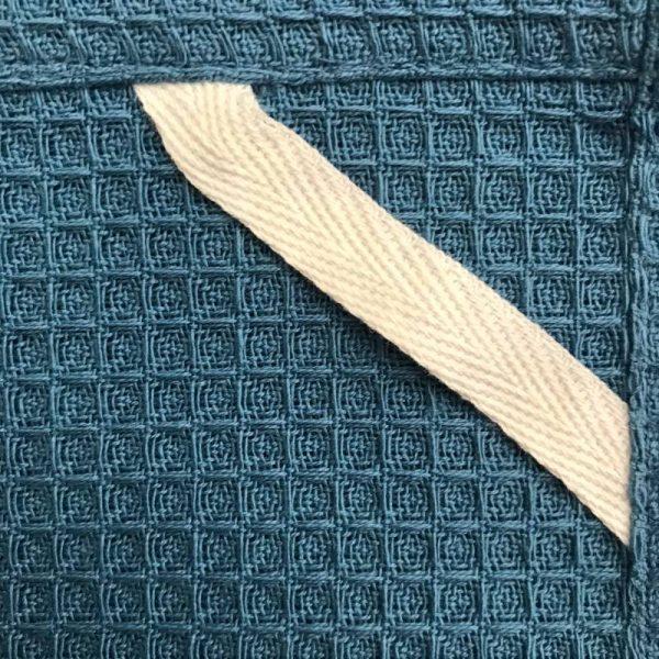 Viskestykke blå, vaffelvævet, 100% øko-GOTS bomuld