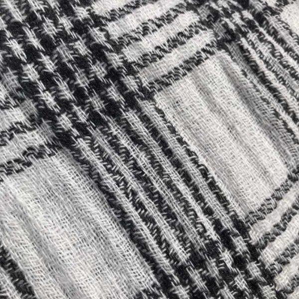 Herre cashmere - sort-hvid tern