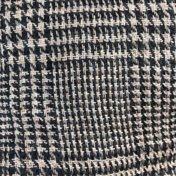 Herre cashmere - sort-lysebrun tern