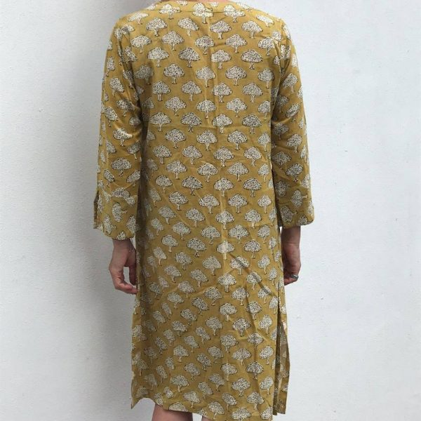 Kurta kjole - sennep