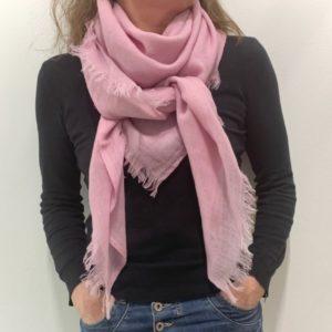 Firkantet sjal, pink