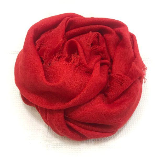 Firkantet sjal, rød