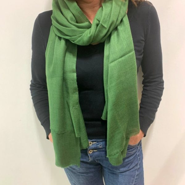 Cashmere Sjal - grøn