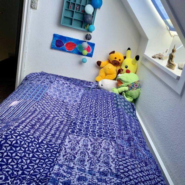 Kantha Quilt sengetæppe eller dug