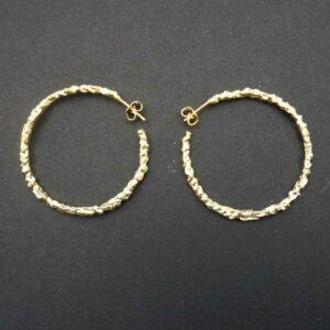 Guldbelagte øreringe